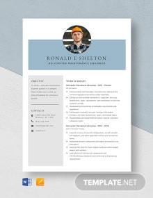 Helicopter Maintenance Engineer Resume Template