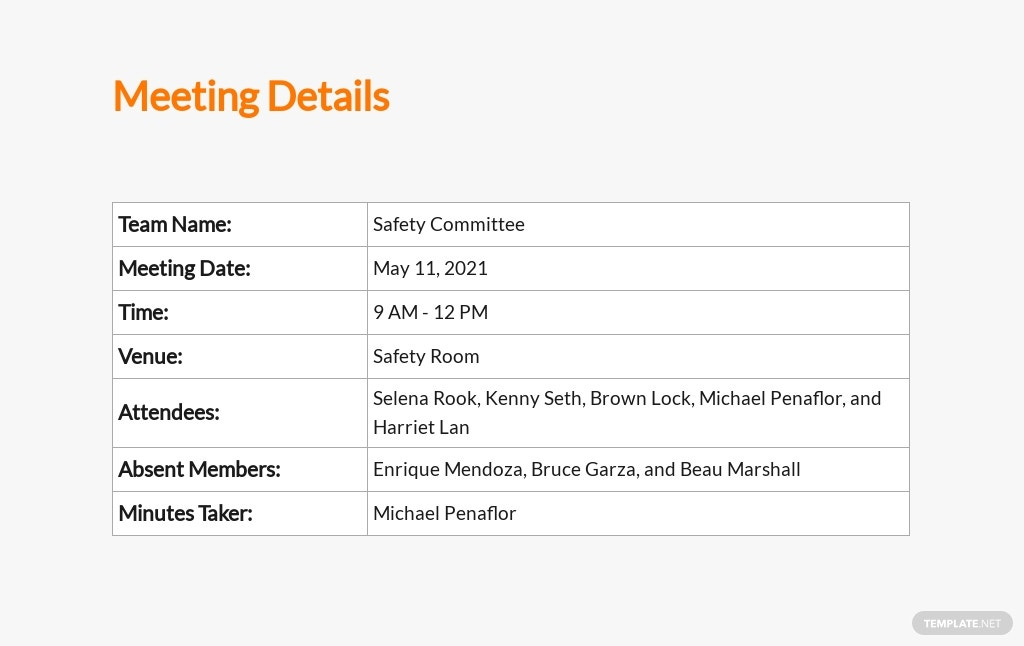 Free Safety Meeting Minutes Template 1.jpe