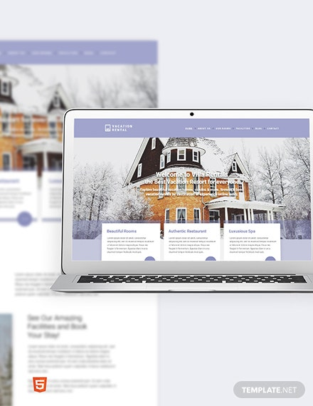 Vacation Rental Bootstrap Landing Page Template