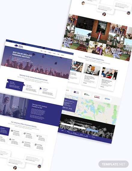 Education Bootstrap Landing Page Download