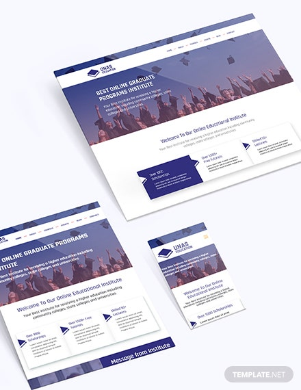 Sample Education Bootstrap Landing Page