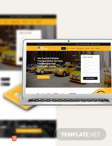 Taxi Services Bootstrap Landing Page Template