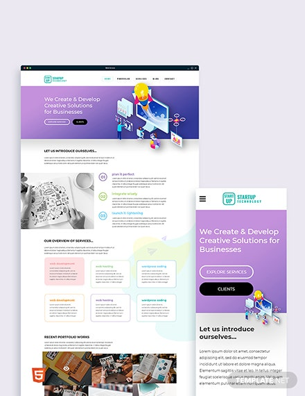 Startup Bootstrap Landing Page Template