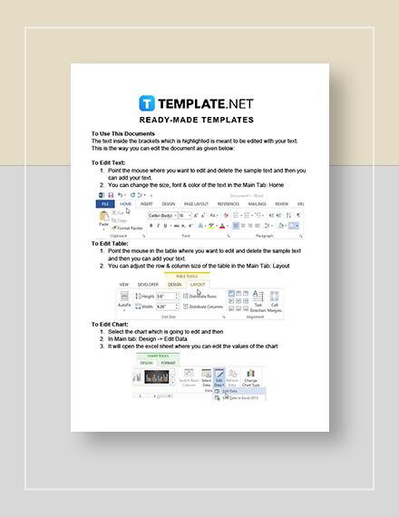 Construction Estimate Sheet Instructions