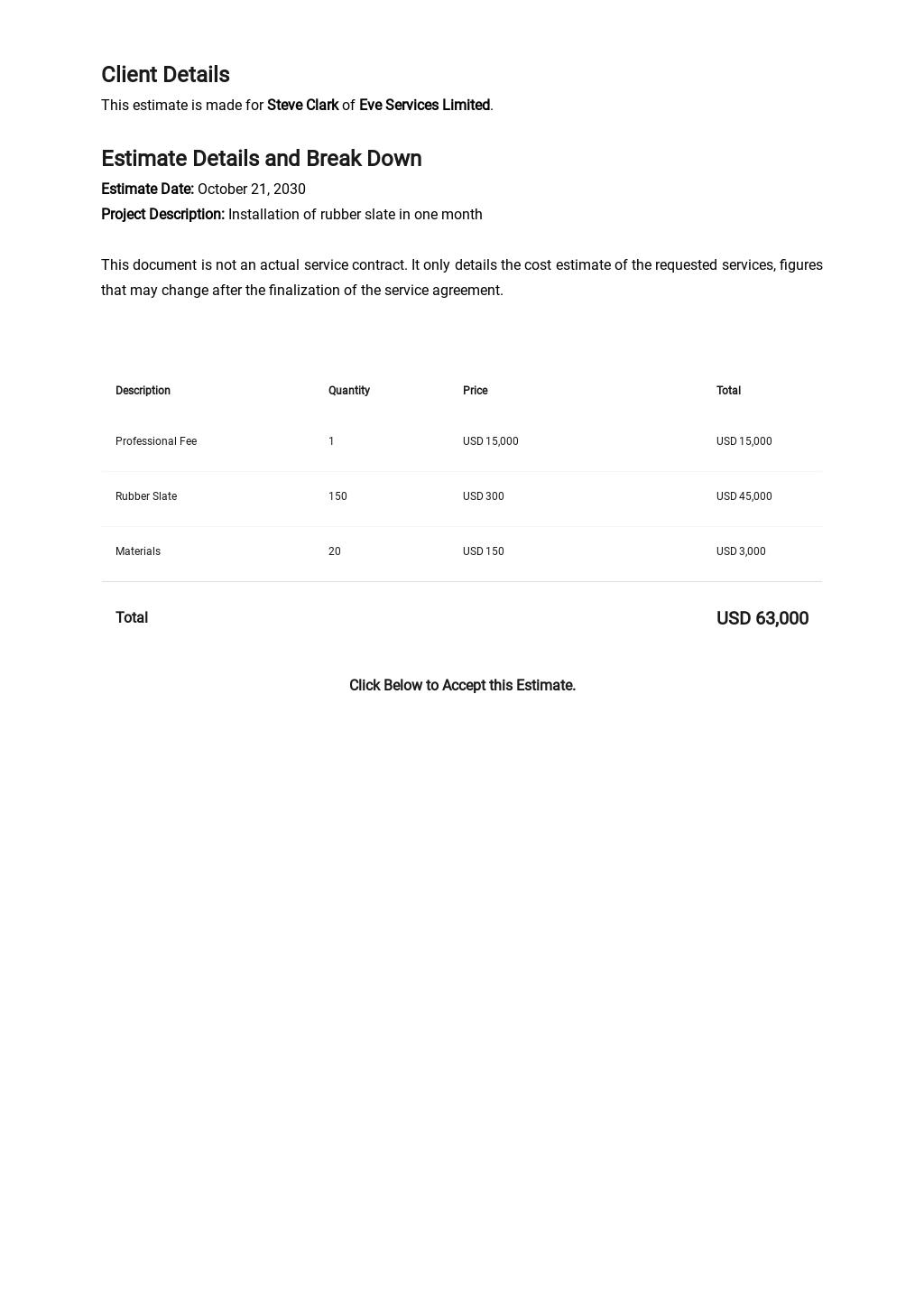 Free Contractor Estimate Sheet Template 1.jpe