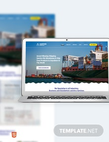 Shipping Bootstrap Landing Page Template