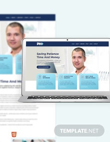Pharmacy Bootstrap Landing Page Template