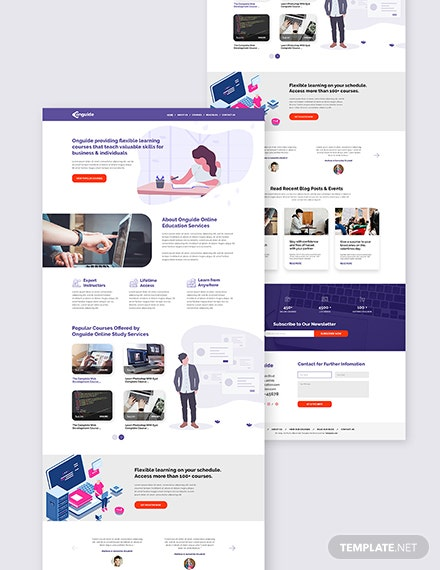 Online Courses Bootstrap Landing Page Download