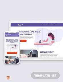 Online Courses Bootstrap Landing Page Template
