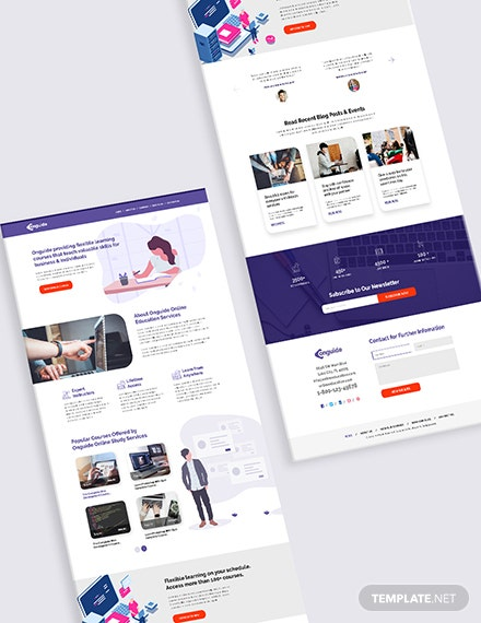 Sample Online Courses Bootstrap Landing Page