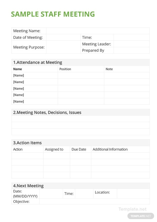 ms office meeting minutes template