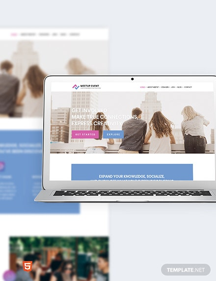 Meetup Event Bootstrap Landing Page Template
