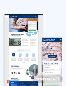 Laundry Bootstrap Landing Page Template