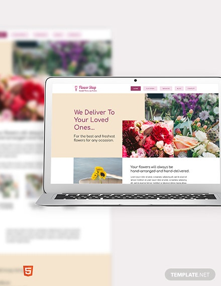 Flower Shop Bootstrap Landing Page Template