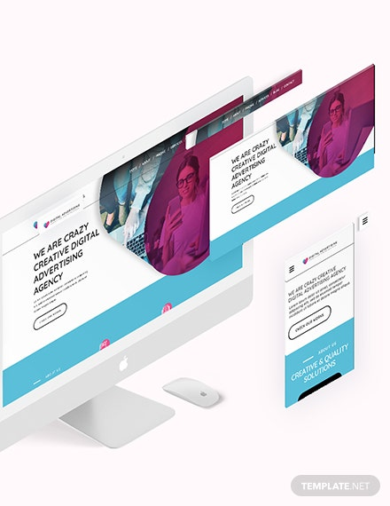 Digital Advertising Agency Bootstrap Landing Page Download