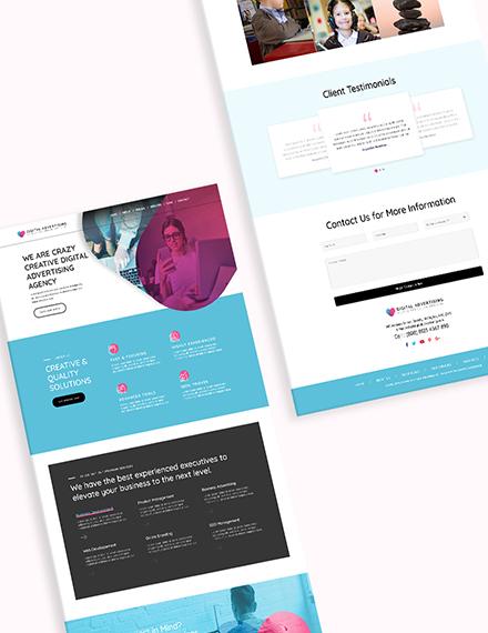 Sample Digital Advertising Agency Bootstrap Landing Page