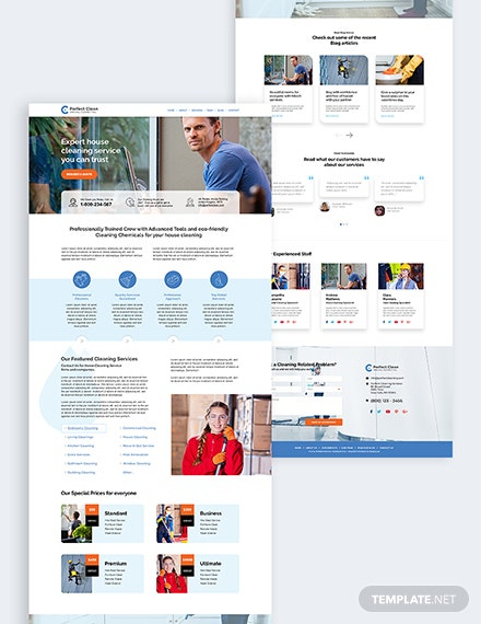 Cleaning Service Bootstrap Landing Page Download