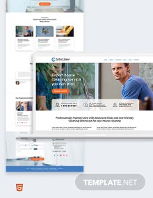 Cleaning Service Bootstrap Landing Page Template