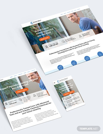 Sample Cleaning Service Bootstrap Landing Page