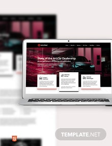 Car Dealership Bootstrap Landing Page Template