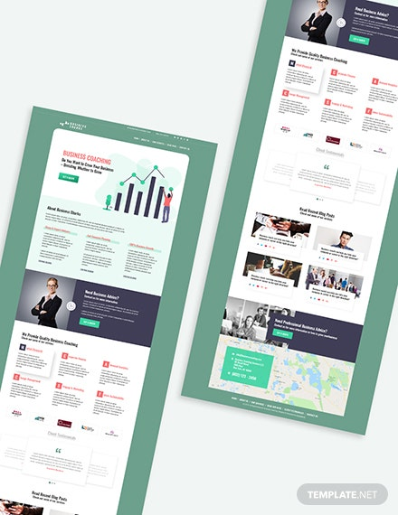 Business Coaching Bootstrap Landing Page Download