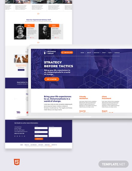 Business Adviser Bootstrap Landing Page Template