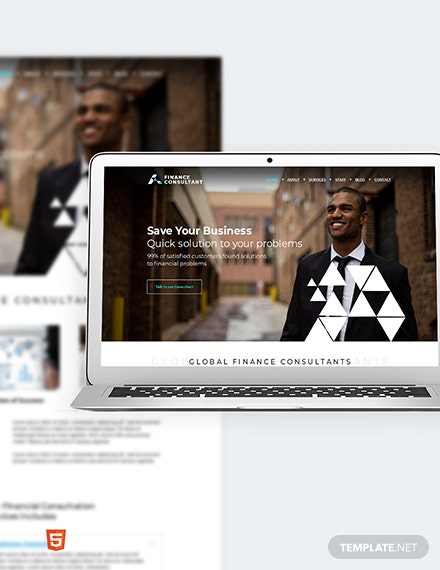 Finance Consultant Bootstrap Landing Page Template