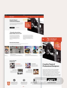 Art Director Bootstrap Landing Page Template