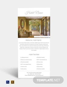 Free Luxury Hotel Rack Card Template