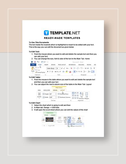 Travel Agency Company Invoice Instructions
