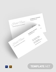 Free Luxury Hotel Business Card Template