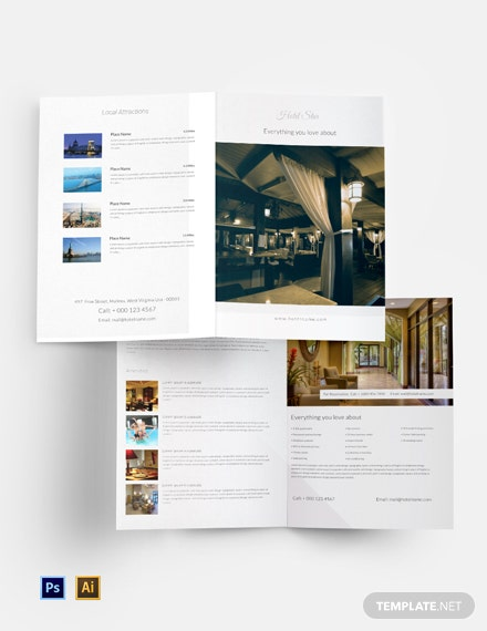 Free Luxury Hotel Bi-Fold Template