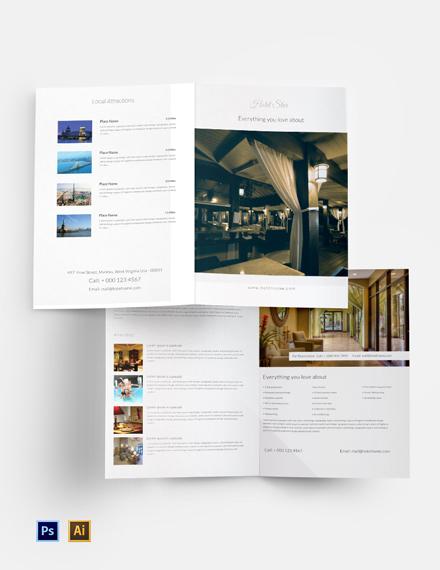 Free Luxury Hotel Bi-Fold Template