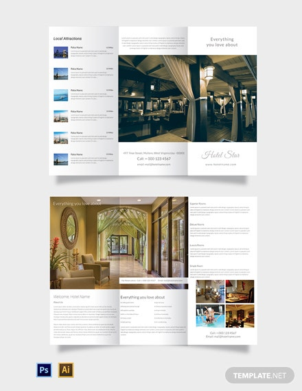 Free Luxury Hotel Tri-Fold Template