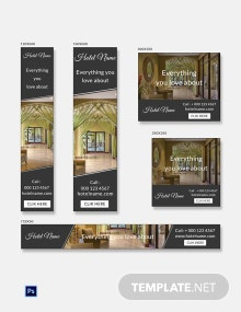 Free Luxury Hotel Banner Ads Template