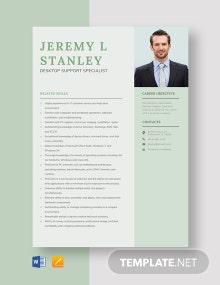 Desktop Support Specialist Resume Template