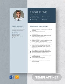 Fraud Manager Resume Template