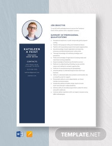 Freelance Grant Writer Resume Template