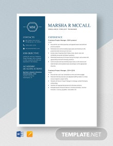Freelance Project Manager Resume Template