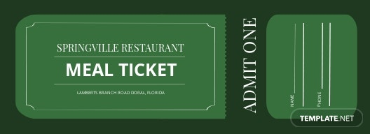 Free Meal Ticket Template.jpe