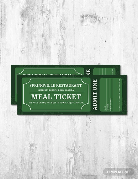 free meal ticket template download 57 tickets in psd word