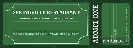 Meal Ticket Template Free Templates - Meal ticket template