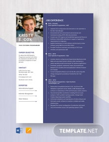 CICS Systems Programmer Resume Template