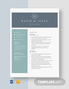 Citrix Admin Resume Template