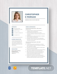 Corporate Real Estate Director Resume Template