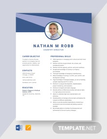 Country Director Resume Template