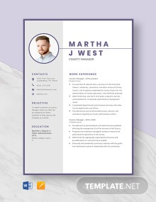 County Manager Resume Template