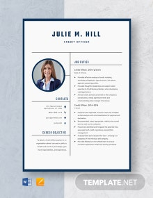 Credit Officer Resume Template