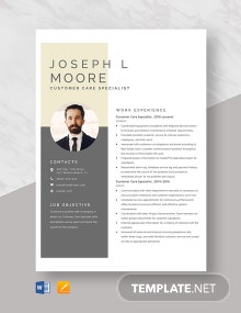 Customer Care Specialist Resume Template
