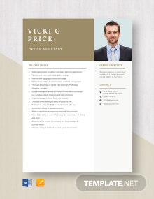 Design Assistant Resume Template